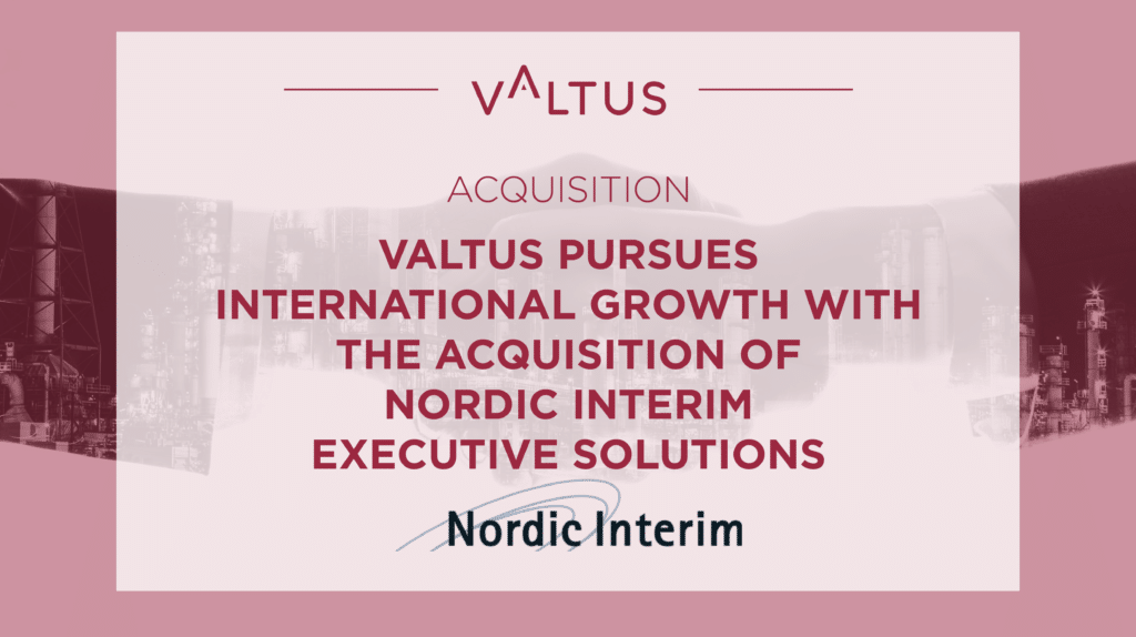 Valtus acquires Nordic Interim Executive Solutions