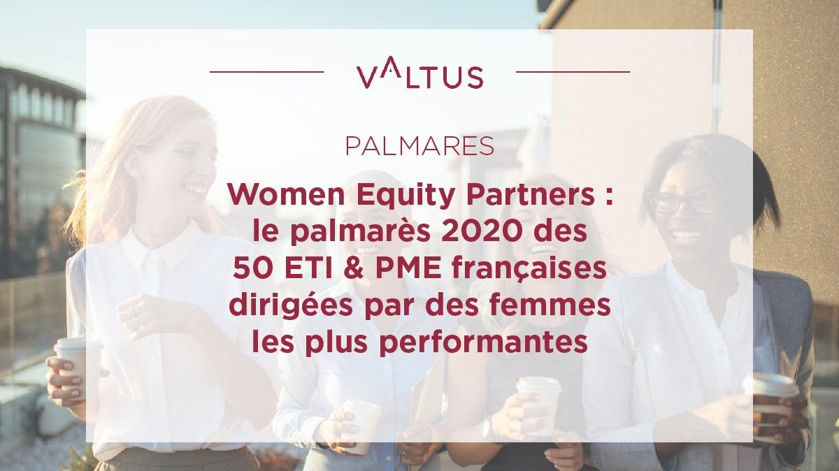 Palmarès 2020 Women Equity Partners