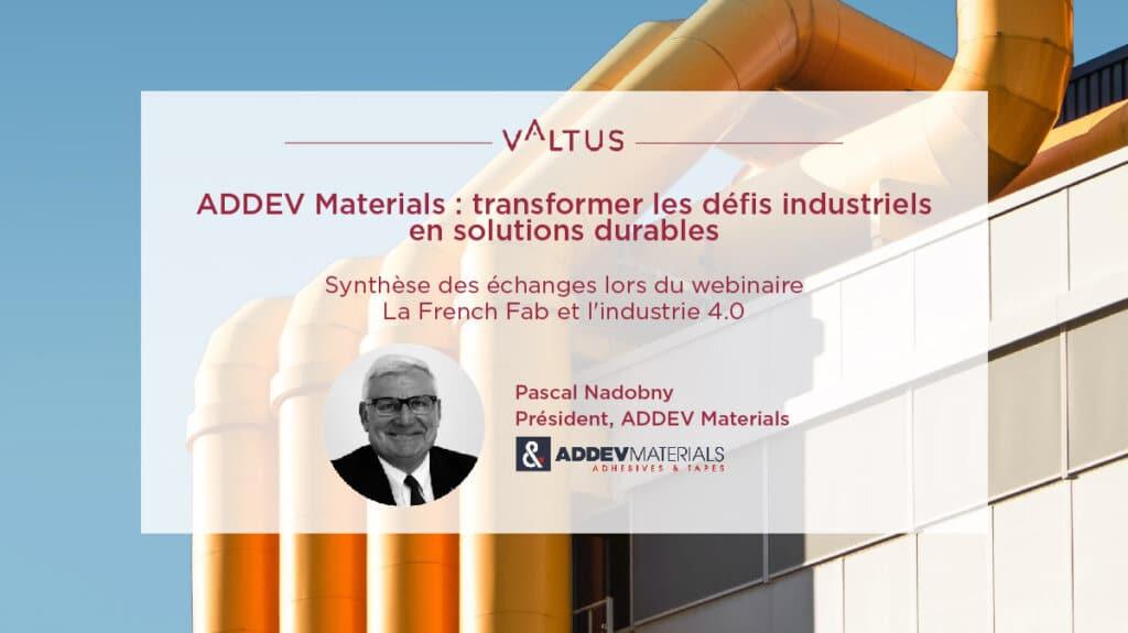 ADDEV Materials - transformer les défis industriels en solutions durables